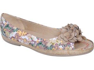 Peep Toe Feminino Piccadilly 105.002 Floral Nozes - Tamanho Médio