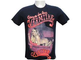 Camiseta Masculina Cavalera Clothing Cavalera 01.01.5306 Preto - Tamanho Médio