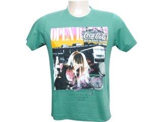 Camiseta Masculina Coca-cola Clothing 353202338 Verde - Tamanho Médio