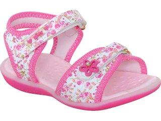 Sandália Fem Infantil Kidy 00203760351 Branco/pink - Tamanho Médio