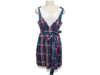 Vestido Feminino Dona Florinda 63073 Xadrez - Tamanho Médio