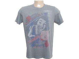 Camiseta Masculina Cavalera Clothing 01.01.6059 Chumbo - Tamanho Médio