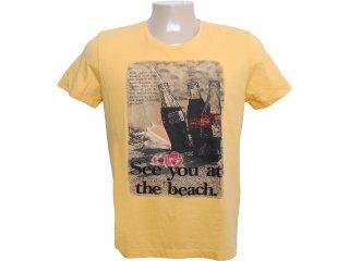 Camiseta Masculina Coca-cola Clothing 353202585 Amarelo - Tamanho Médio