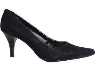Sapato Feminino Via Marte Scarpin 10-5605 Nobuck Preto - Tamanho Médio