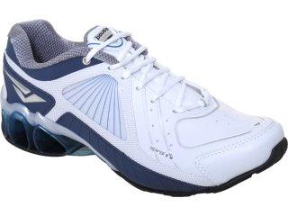 Tênis Masculino Bouts 9412 Branco/marinho - Tamanho Médio