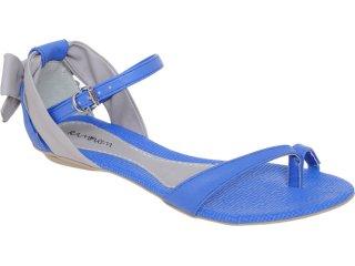 Sandália Feminina Ramarim 1150203 Azul/rato - Tamanho Médio