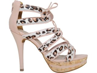 Sandal Boots Feminina Via Marte 11-16407 Pêssego - Tamanho Médio