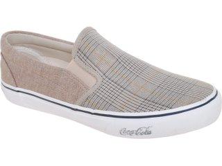 Tênis Masculino Coca-cola Shoes Cc0870007 Taupe Xadrez - Tamanho Médio