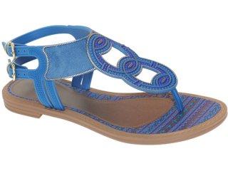 Sandália Feminina Grendene Grendha 16186 Marrom/azul - Tamanho Médio