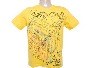 Camiseta Masculina Cavalera Clothing 01.01.6083 Amarelo - Tamanho Médio