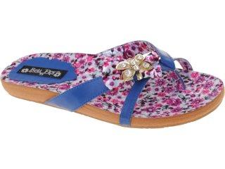 Tamanco Feminino Bela Flor 210 Azul - Tamanho Médio