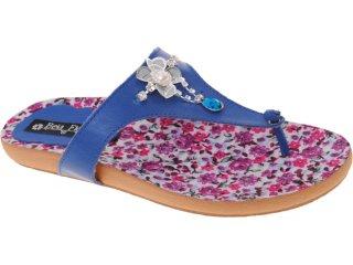 Tamanco Feminino Bela Flor 120 Azul - Tamanho Médio