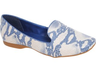Feminino Bottero Sapato Slipper 158301 Azul - Tamanho Médio