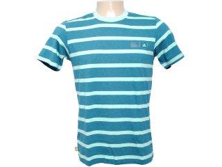 Camiseta Masculina Adidas O04315 Verde Listrado - Tamanho Médio