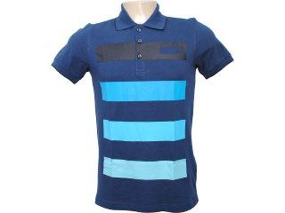 Camisa Masculina Adidas O04303 Marinho Listrado - Tamanho Médio