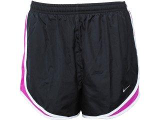 Short Feminino Nike 716453-004 Chumbo/violeta - Tamanho Médio