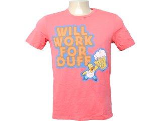Camiseta Masculina Cavalera Clothing 01.01.6255 Rosa - Tamanho Médio