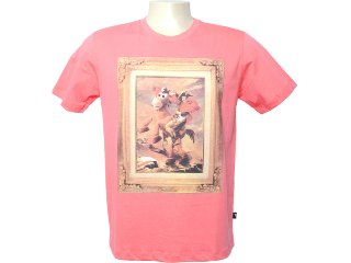 Camiseta Masculina Cavalera Clothing 01.01.6316 Laranja - Tamanho Médio