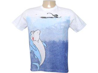 Camiseta Masculina Cavalera Clothing 01.01.6293 Branco - Tamanho Médio