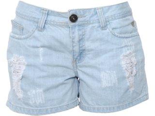 Short Feminino Cavalera Clothing 08.02.0658 Jeans - Tamanho Médio