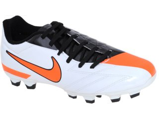 Chuteira Masculina Nike Exacto 474137-100 Bco/pto/laranja - Tamanho Médio