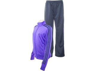 Abrigo Feminino Adidas O03135 Roxo/chumbo - Tamanho Médio