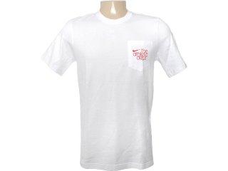 Camiseta Masculina Nike 419231-101 Branco - Tamanho Médio