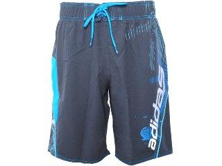 Bermuda Masculina Adidas O59697 Chumbo/azul - Tamanho Médio