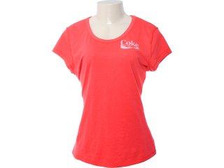 Camiseta Feminina Coca-cola Clothing 343200409 Vermelho - Tamanho Médio