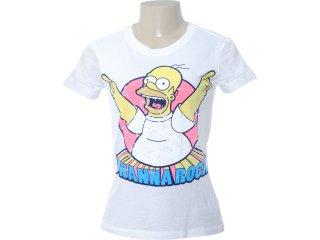 Camiseta Feminina Cavalera Clothing 09.02.0873 Branco - Tamanho Médio