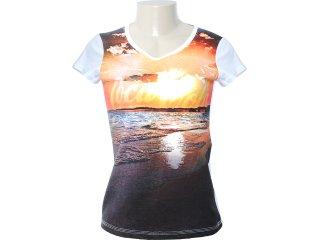 Camiseta Feminina Coca-cola Clothing 343200411 Branco - Tamanho Médio