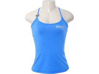 Blusa Feminina Coca-cola Clothing 383200277 Azul - Tamanho Médio