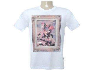 Camiseta Masculina Cavalera Clothing 01.01.6316 Branco - Tamanho Médio