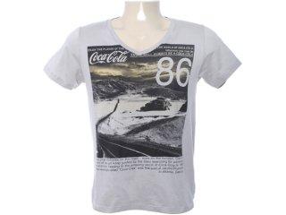 Camiseta Masculina Coca-cola Shoes 353202475 Cinza - Tamanho Médio