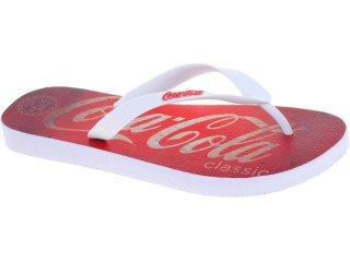 Chinelo Masculino Coca-cola Shoes Cc1270002 Branco - Tamanho Médio