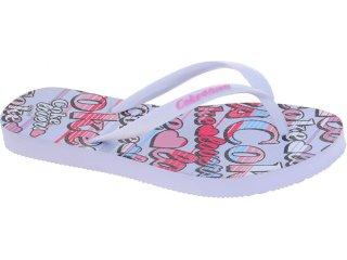 Chinelo Feminino Coca-cola Shoes Cc1260001 Branco - Tamanho Médio