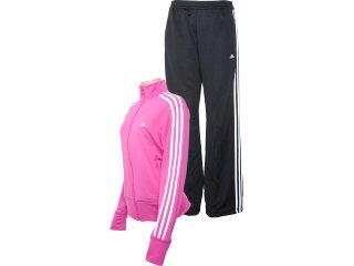 Abrigo Feminino Adidas O03139 Pink/preto - Tamanho Médio