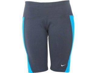 Bermuda Feminina Nike 446155-061 Cinza/azul - Tamanho Médio
