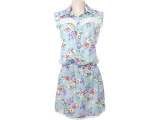 Vestido Feminino Moikana 5014 Azul - Tamanho Médio