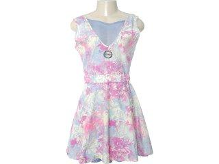 Vestido Feminino Pakalolo 77354 Estampado Lilas - Tamanho Médio