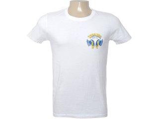 Camiseta Masculina Cavalera Clothing 01.01.6285 Branco - Tamanho Médio