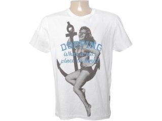 Camiseta Masculina Dopping 015060514 Branco - Tamanho Médio