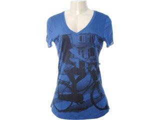 Camiseta Feminina Dopping 015051535 Marinho - Tamanho Médio