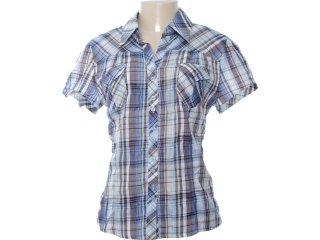 Camisa Feminina Mooncity 216104 Azul - Tamanho Médio