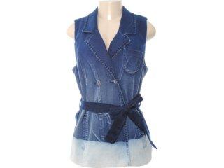 Colete Feminino Dopping 014211501 Jeans - Tamanho Médio