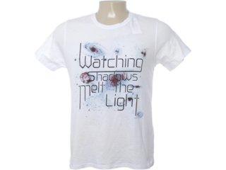 Camiseta Masculina Dzarm 6btn Noa10 Branco - Tamanho Médio