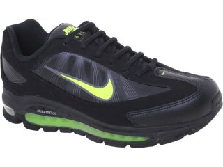 Tênis Masculino Nike Air Max 443942-002  Preto/limão - Tamanho Médio
