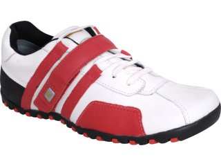 Sapato Masculino West Coast 8321 Branco/vermelh - Tamanho Médio