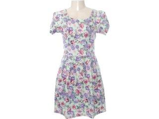 Vestido Feminino Checklist 19.10.2656 Floral Verde - Tamanho Médio