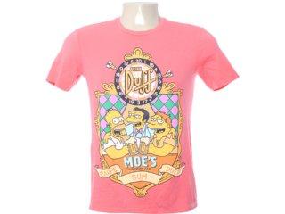 Camiseta Masculina Cavalera Clothing 01.01.6246 Coral - Tamanho Médio